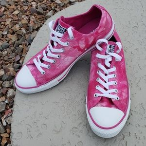 Converse All Star EUC tie dye pink